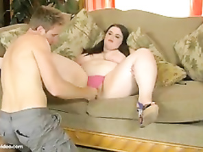 Teenage CHUBBY Holly Jayde Gets Her Butt Fucked For First Time