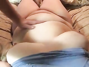 Cumming on her boob