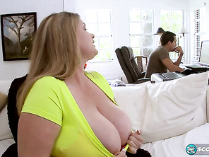 Sweet, sexy and super-busty Kimmie Kaboom's first anal scene is something you clear your schedule for.