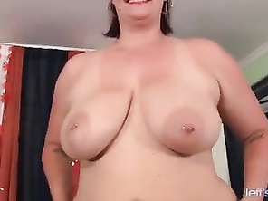 Huge butt and huge boobed girl using magic wand