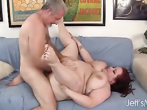 Chubby Redhead Gobbles a Cock and Gets Fucked Hard