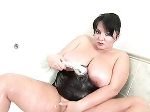 Amazing mommy mother with huge natural tits