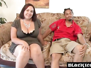 Cock craving FATTY Mariah Cherry sucking and riding BBC