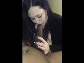 CHUBBY huge boobs gives bj and tit fuck
