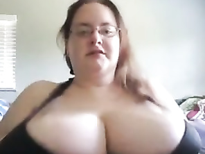 Big saggy tits on bbw WIFE