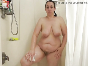Melody taking a Shower