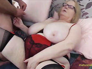 Mommy Sally's first fuck