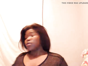 Huge Juicy Black CHUBBY Webcam Butt and Tits