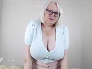 My big tits in a tiny blue top