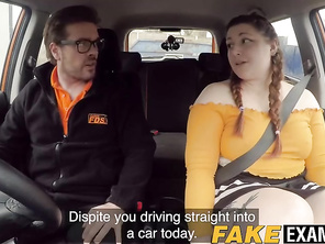 English FAT rides her driving instructors huge bbw dick