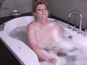 Very HUGE mother fucks lucky son after bath