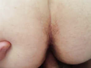 Big Tits and Butt FAT Wife Shaved Vagina Filled With Cum