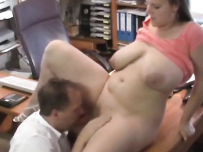 Beautiful FATTY with Huge Saggy Tits Fucked Nice in Office
