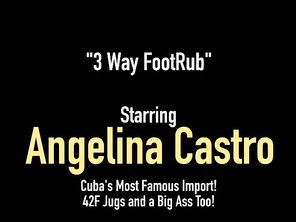 Huge Babes Angelina Castro & Virgo Peridot Give BBC Footjob!