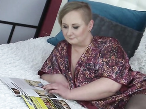 Huge mature with big tits fucks lucky son