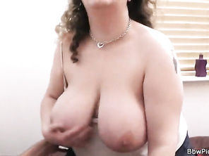 Huge boobs plumper likes it hard from behind