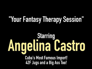 FATTY Sex Therapist Angelina Castro Face Fucks A Dick!