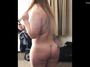Danielle after shower and playing with tits while we eat