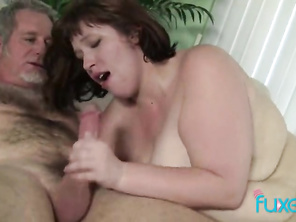 FATTY Cherie with older guy
