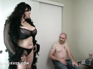 Curvaceous Mature fucking her stepson