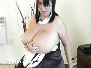 A huge tits maid in my hotel bedroom