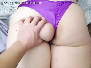 Groping PAWG Huge Butt and Fingering Her Tight CHUBBY Butthole