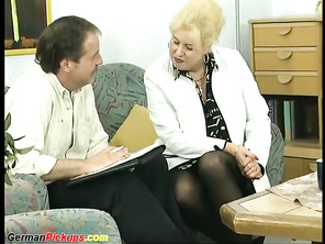 German CHUBBY Mommy Picked up for first Assfuck