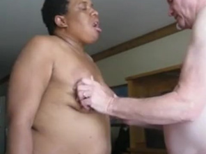 Ghetto FAT Loves old White Dick 4