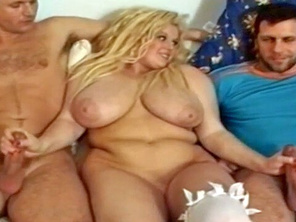 Fat Blonde with Huge Tits Takes Unexpected Cocks