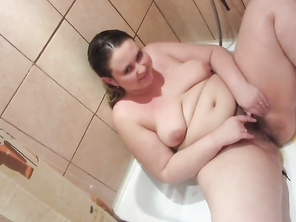 Russian Fatty Innocent wants to Piss... and she is Pissing