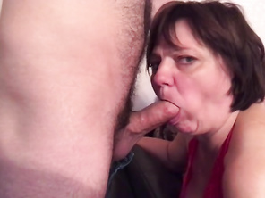 Mommy with a Huge Butt and Stepson have Ass Fuck Sex. Mother Loves Stepson's Cock