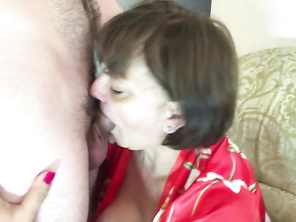 The Stepmother with a Huge Butt did Oral to her Son and had Assfuck Sex. Real