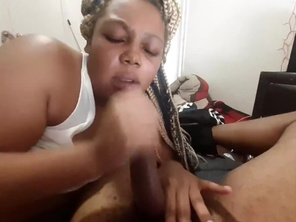 Teen Fatty Thot tries to Suck the Cum out my Cock (pt 1)
