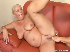 Despite her age those melons are still perky and ripe, with erect nipples that show just how horny she still is.