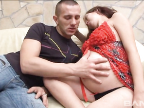 Pregnant brunette, Alexandra, takes off her maternity clothes and has her man titty fuck her milk-swollen tits before he gives her shaved pussy a good fucking in this pregnancy sex session from Heatwave's Barefoot And Pregnant 42, that ends with her eatin