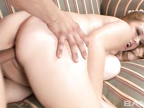 She loves the action as he drills her pussy.