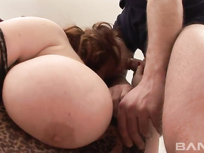 Markyza is a lusty BBW MILF who can't go a day without dick, and when she has a handsome man come by she's wrapping her lips around his long, uncut cock.