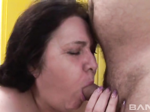 Marketa is a happily married grannie, who you'll se taking a shower because, today is her birthday and her sweet husband always fucks her on their anniversary and birthday so, after drying herself off, she comes out and gives him a blowjob to get his limp