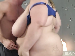 Mandy Majestic is a cute BBW blonde, who had a tattoo put on her right hooter, signifying she's a playmate, whose ready to fuck and suck her way to a orgasm and a tasty facial cumshot.